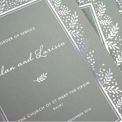 Soft Touch Lamination, Silver Foil